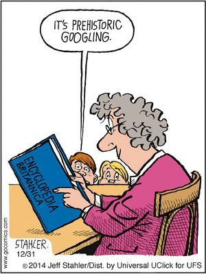 Mystery Fanfare: Cartoon of the Day: Prehistoric Googling