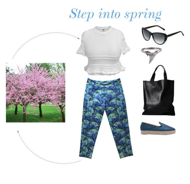 """""""Step into spring"""" by wolfandbadger ❤ liked on Polyvore featuring YM by Yakshi Malhotra, RachelAlex, My Name is Lolo, Fera, Heidi London and London Edit"""