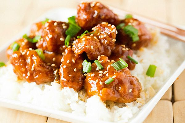 Sesame Chicken Recipe - this recipe is excellent! It would be even better if some steamed broccoli was tossed in at the end :)