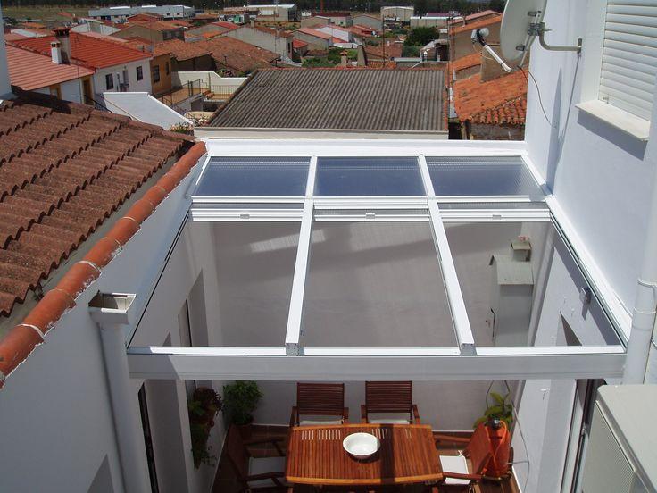17 mejores ideas sobre puertas para terrazas deslizantes for Carriles de aluminio para toldos