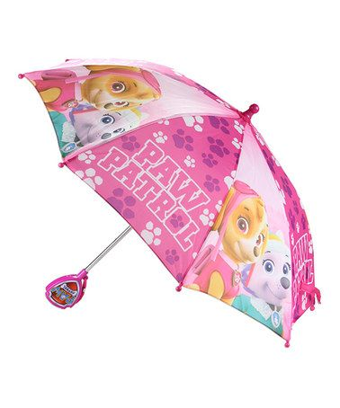 Loving this Pink PAW Patrol Umbrella on #zulily! #zulilyfinds