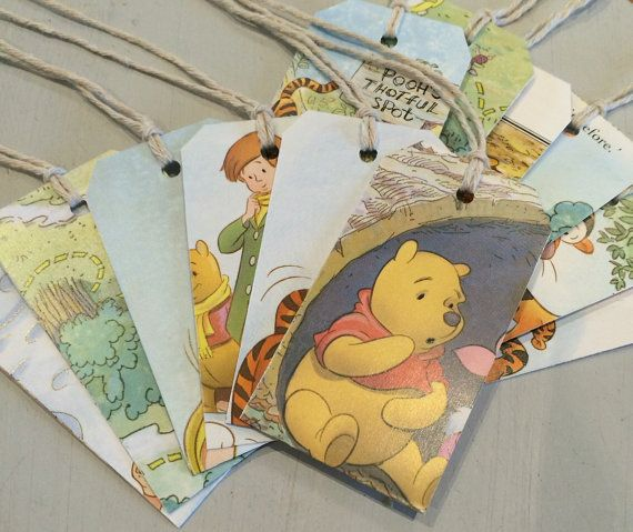 Winnie The Pooh Little Golden Books Gift Tags by DyeNumber2