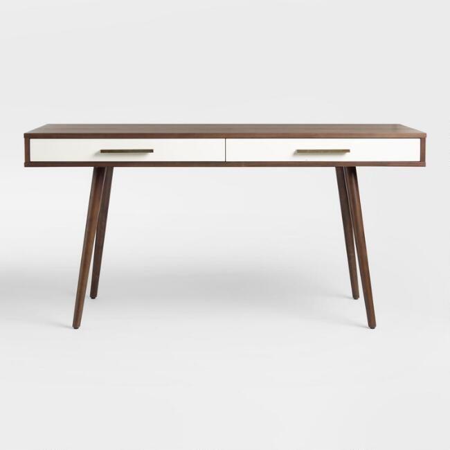 Wood Mid Century Zarek Desk V3 Home Office Setup Mid Century Modern Style Furniture