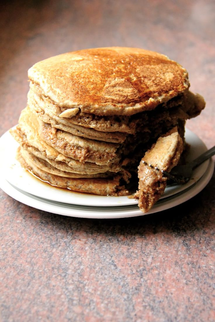 My Happy Place: SUPER FLUFFY cinnamon wholewheat pancakes