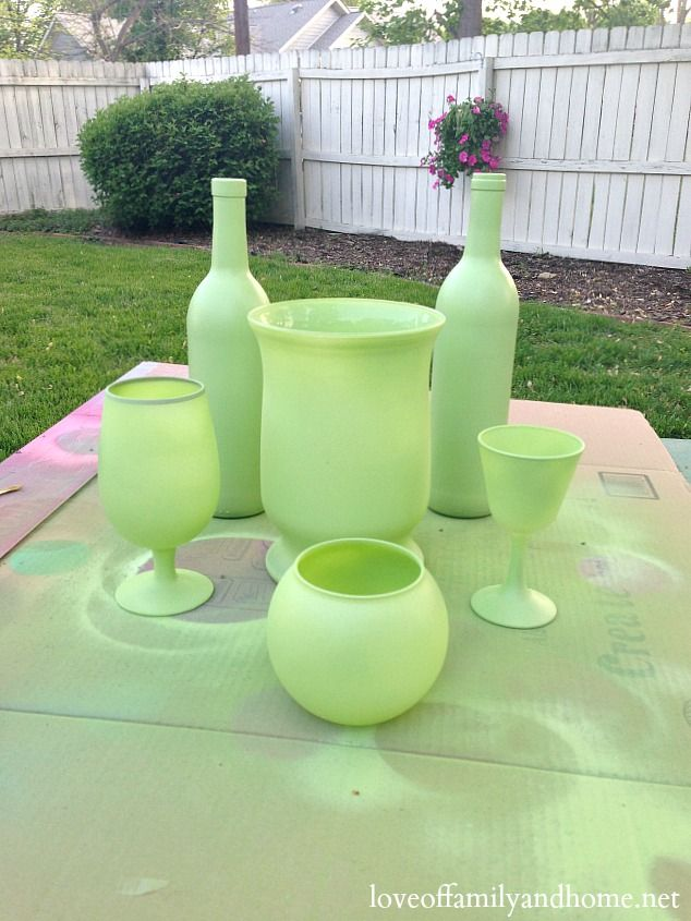 spray painted centerpieces 4