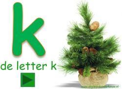 De letter k