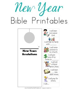 New Year Bible Printables