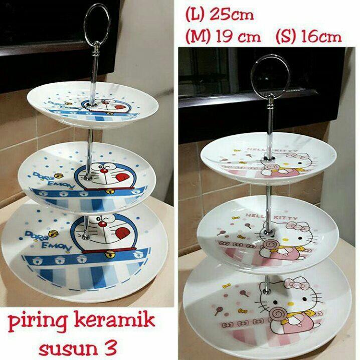 #piring #keramik #hellokitty & #doraemon susun 3 @ 170.000