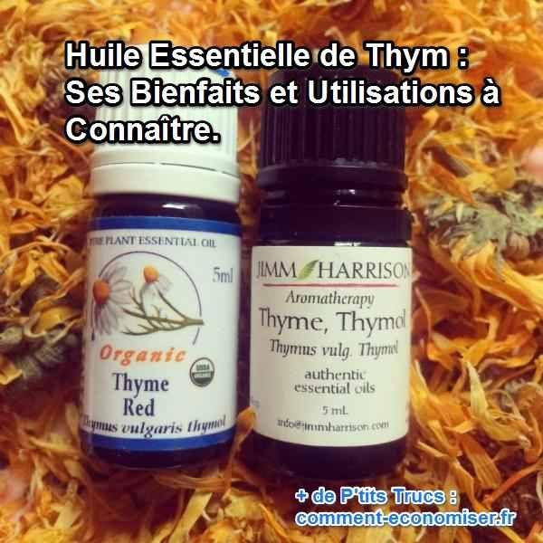 L'huile essentielle de thym est une arme très efficace contre les virus, les bactéries, les microbes et les infections respiratoires. Découvrez maintenant tous ses bienfaits et ses utilisations.  Découvrez l'astuce ici : http://www.comment-economiser.fr/huile-essentielle-thym-bienfaits-utilisations.html?utm_content=bufferc69e1&utm_medium=social&utm_source=pinterest.com&utm_campaign=buffer