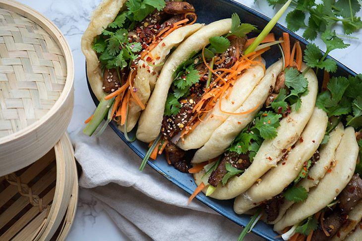 Dampede Bao - fantastisk lækker opskrift med marineret nakkekotelet