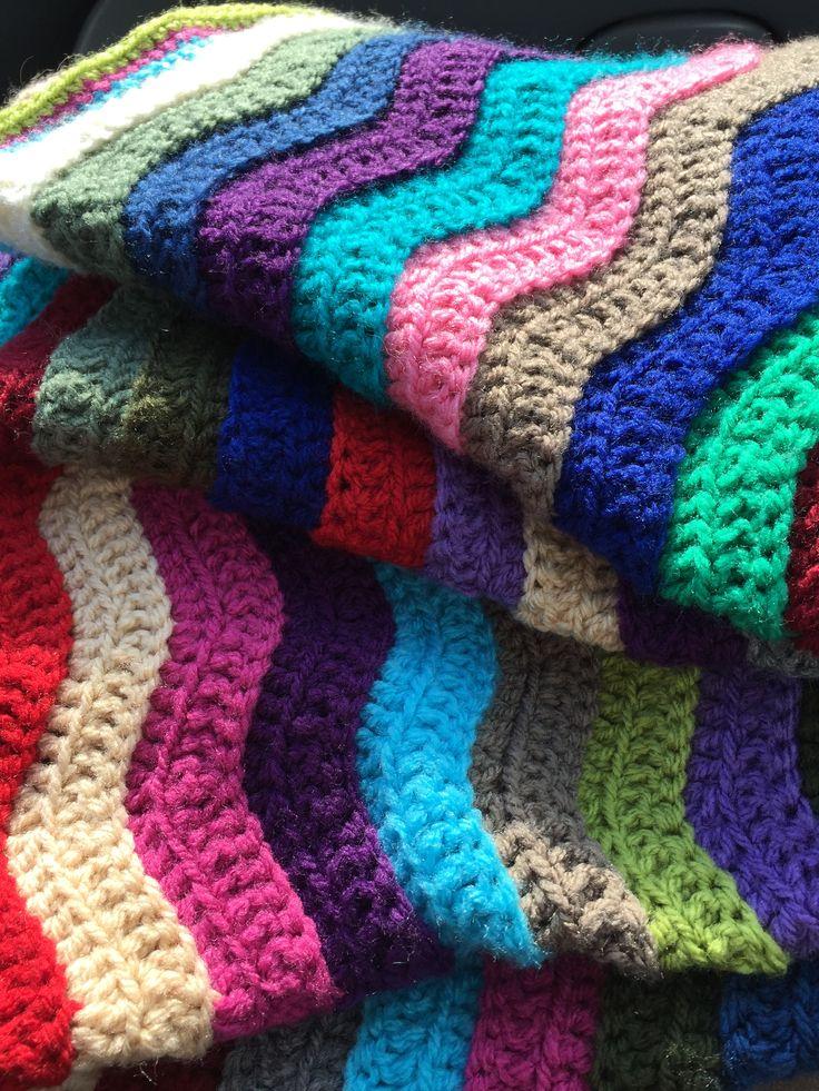 gehaakt ripple deken