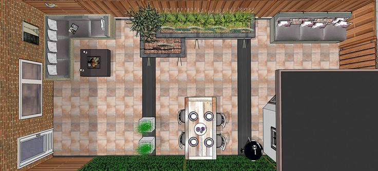8 best images about smalle achtertuin narrow back garden for Tuinontwerp tussenwoning