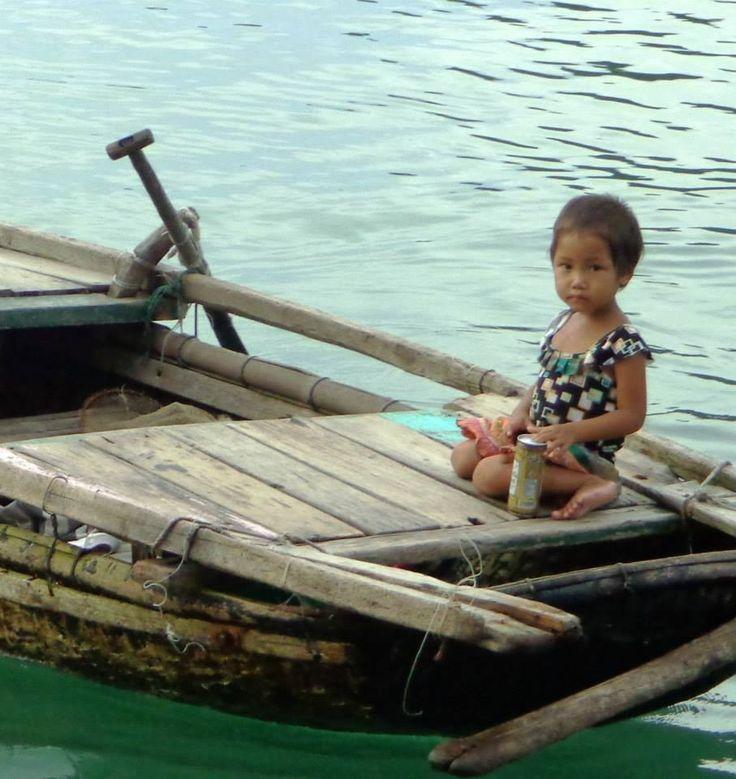 Halong bay young girl