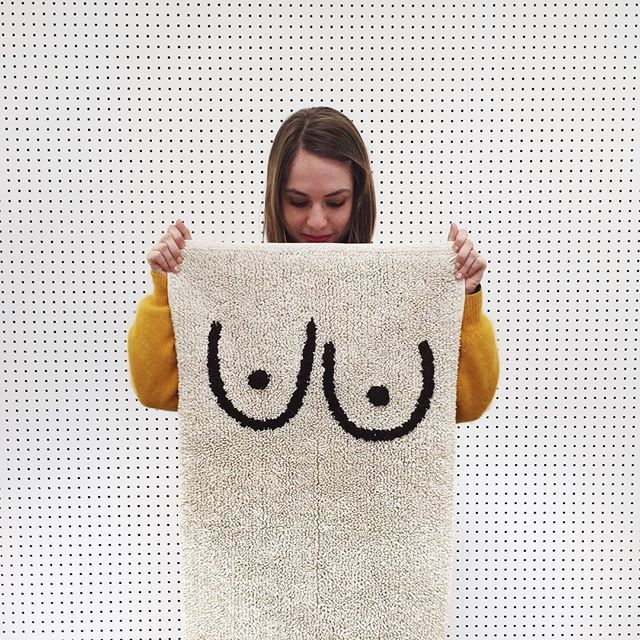 ali and the boobs bathmat from cold picnic