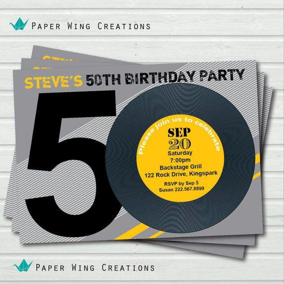 Retro 50th birthday invitation. 80's theme by ...