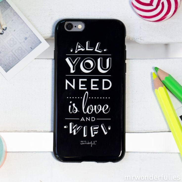 Carcasa para iPhone 6 - All you need is love and Wifi - iPhone 6 - Carcasas y fundas para móviles - Complementos