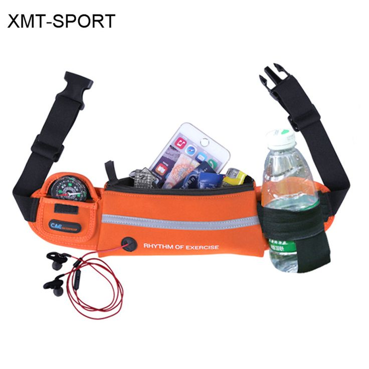 XMT-SPORT Running bag for water bottle waterproof phone packs waist bag gym jogging belt running bags 1pc