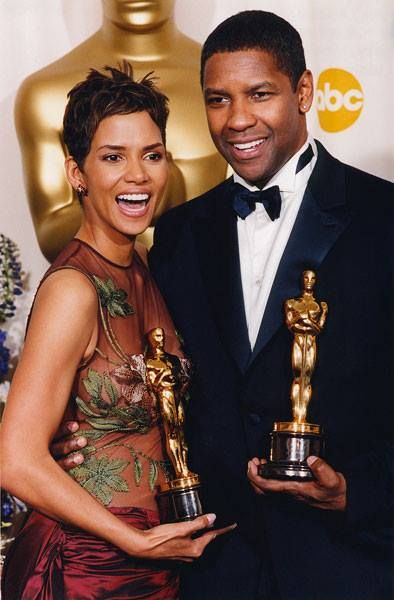 """Halle Berry  (Best Actress in a Leading Role """"Monster's Ball"""" 2001) Denzel Washington (Best Actor in a Leading Role """"Training Day"""" 2001, Best Actor in a Supporting Role """"Glory"""" 1989)"""