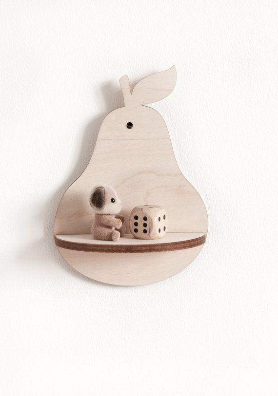 Little Pear Shelf  Natural van RedHandGang op Etsy