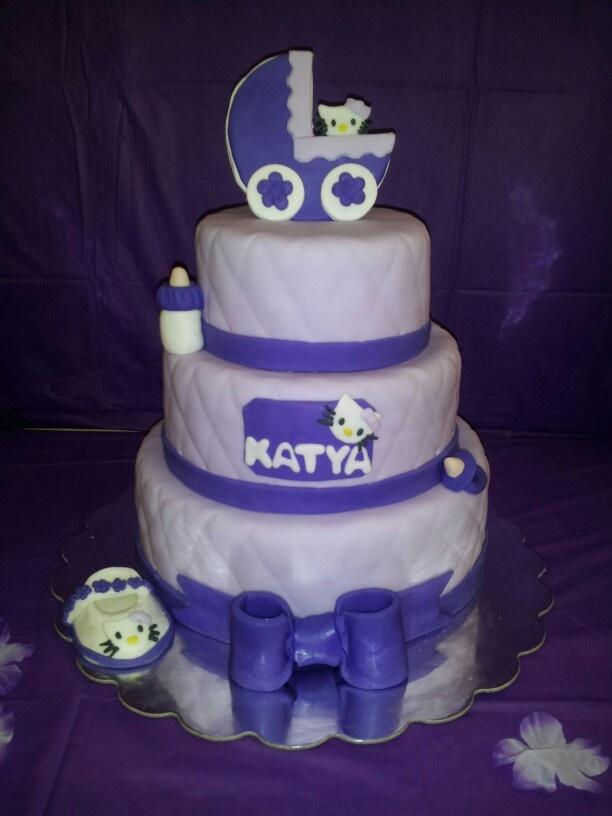 hello kitty baby shower cake my cakes pinterest