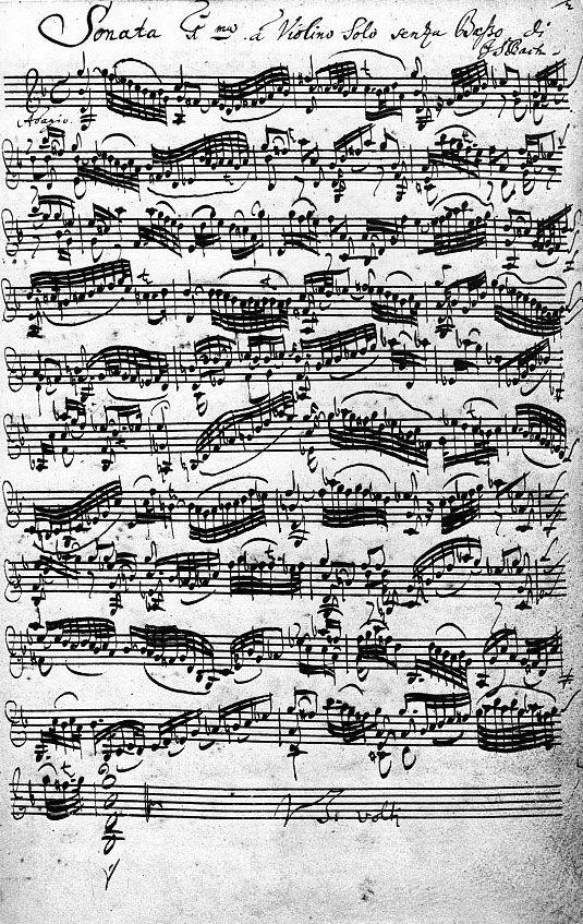 Violin Sonata in Sebastian Bach's Handwriting