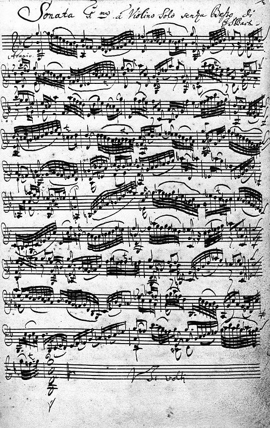 Violin Sonata in Sebastian Bach's Handwriting