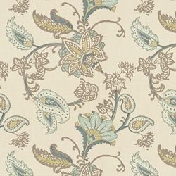 Ajanta Handprint / Tan Aqua - eclectic - upholstery fabric - Calico Corners | Calico Home