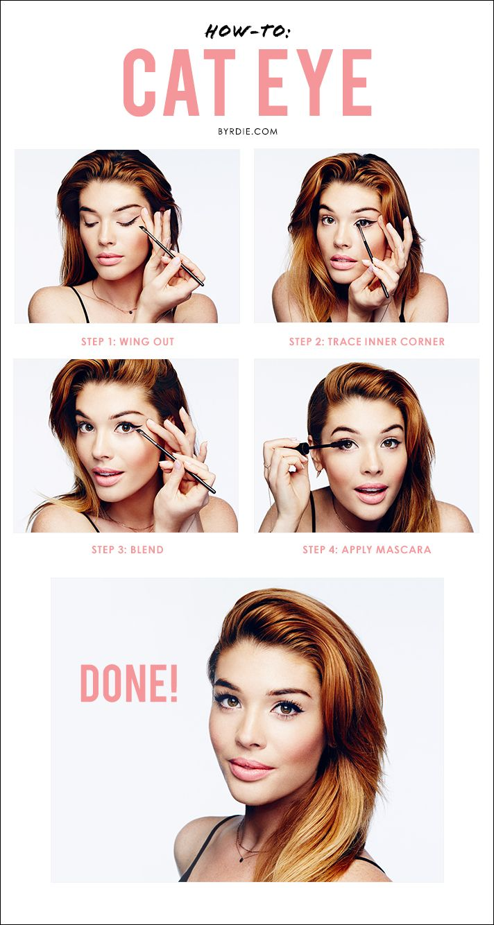 Celebrity makeup artist Lauren Andersen demonstrates a step-by-step #tutorial to creating the perfect cat eye. // #makeup