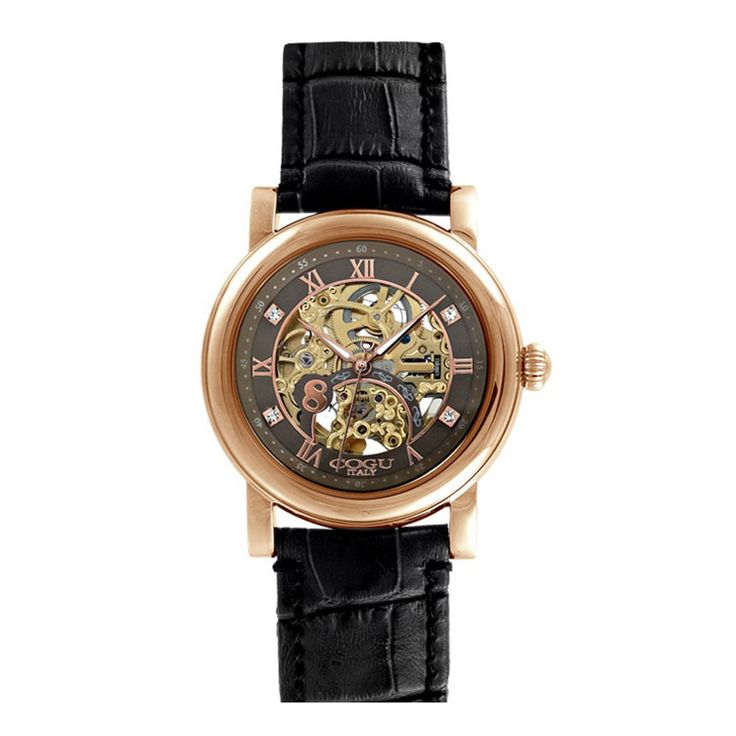 COGU Italy Men's Fashion Automatic Skeleton Analog Leather Strap Watch K066RGB #COGU #LuxuryFashionDressFormal