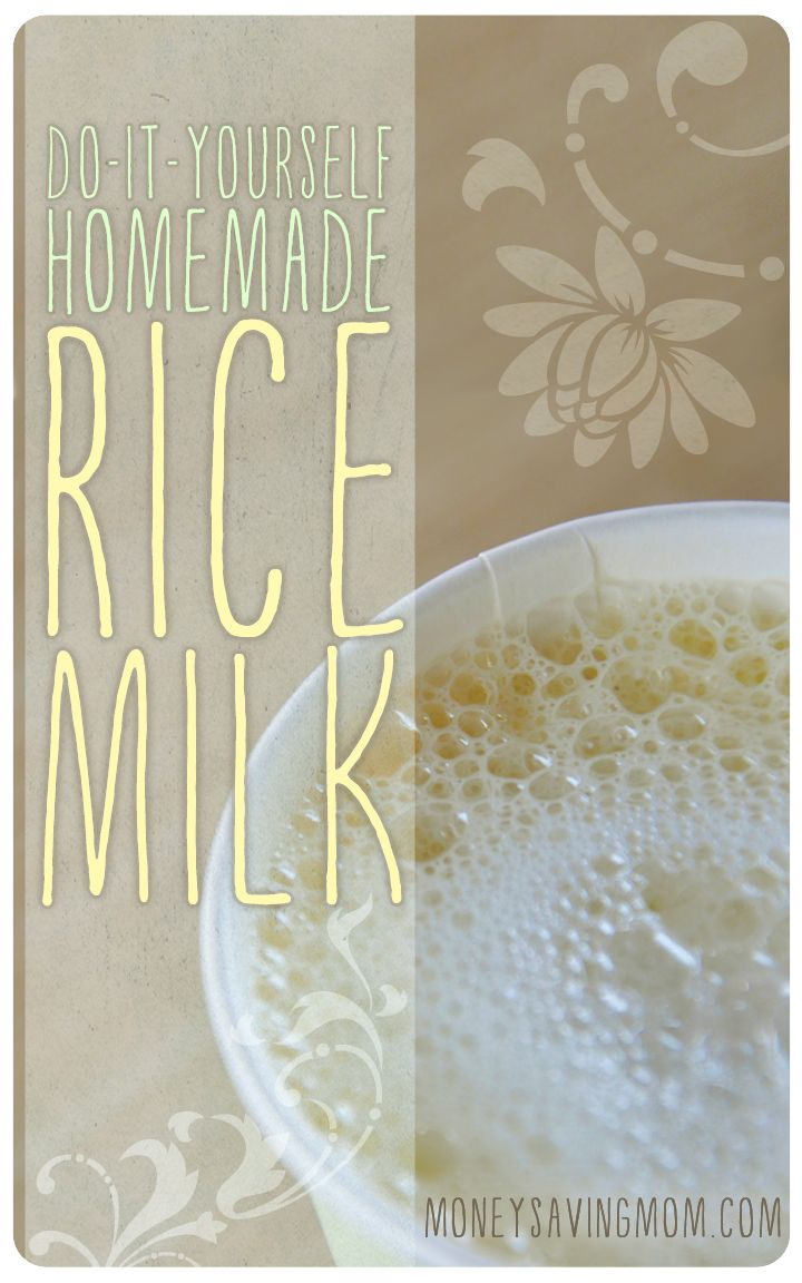 Did you know you can make your own homemade rice milk? It's SO easy to do -- and so much cheaper than buying it at the store! You've got to try this simple recipe!