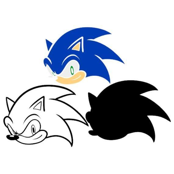 Sonic Head The Hedgehog Svg Vector Silhouette Cricut Design Birthday Party Supplies Decorations Stencil In 2020 Birthday Party Supplies Decoration Cricut Design Sonic