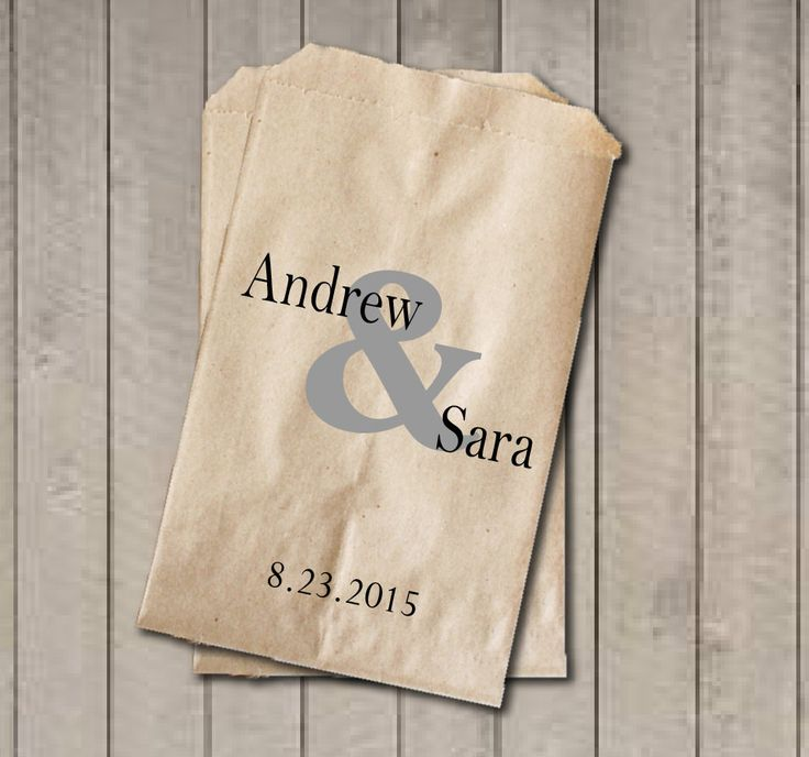 Personalized Favor Bags, Ampersand Wedding Favor Bags, Wedding Candy Bags, Engagement Party, Bridal Shower, Candy Buffet Bags