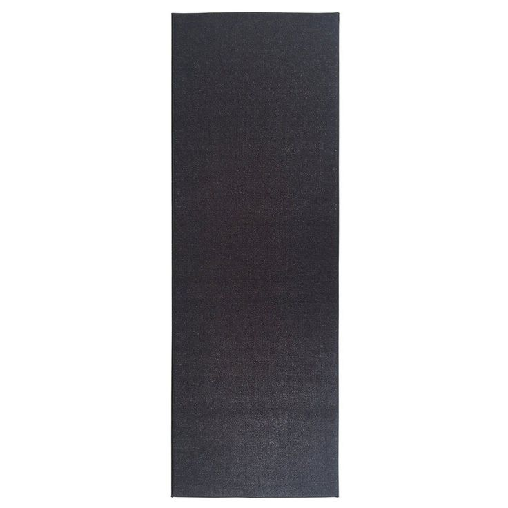 Ottomanson Ottohome Collection Carpet Black Solid Runner Rug with Rubber Backing (1'10 x 12') (Black), Size 1'10 x 12'