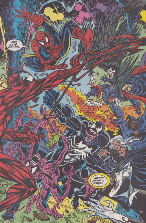 Maximum Carnage... Spider-Man, Venom, Black Cat, Cloak ...