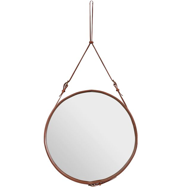 Gubi Hanging Leather Mirror Frame - a new addition to my leathercrafts todo list.