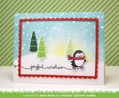 LAWN FAWN CLEAR STAMP SET - WINTER SCRIPTY SAYINGS LF938