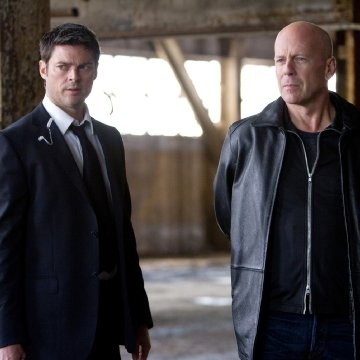 Bruce Willis and Karl Urban in the movie red: I need to see this movie and the red 2!!!!!