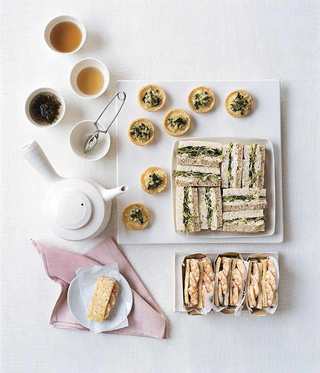 Roast chicken, lemon and green olive sandwiches recipe | Gourmet Traveller recipe :: Gourmet Traveller
