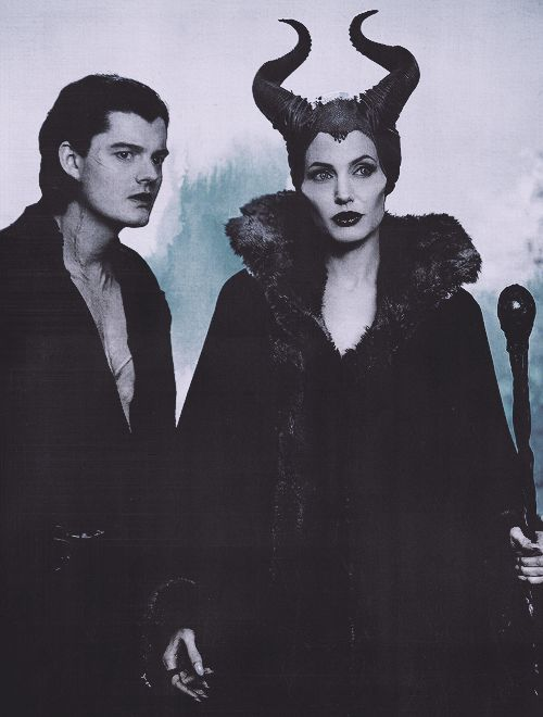 """Maleficent"" (2014) - Angelina Jolie (Maleficent) & Sam Riley (Diaval) >> FWD: ""'Diaval' is close to the Irish version of the devil's name: 'diabhal.' Bh is a digraph in Irish that represents a lenited /b/ or /bʲ/, pronounced [w] and [v], respectively; in diabhal, it's really a /b/, so it's mostly pronounced [w], but in some dialects it's [v]. So Diaval would be kind of a semi-pseudo-phonetic spelling of diabhal in some dialects..."" Thanks to: Janus Bahs Jacquet Mar 17…"