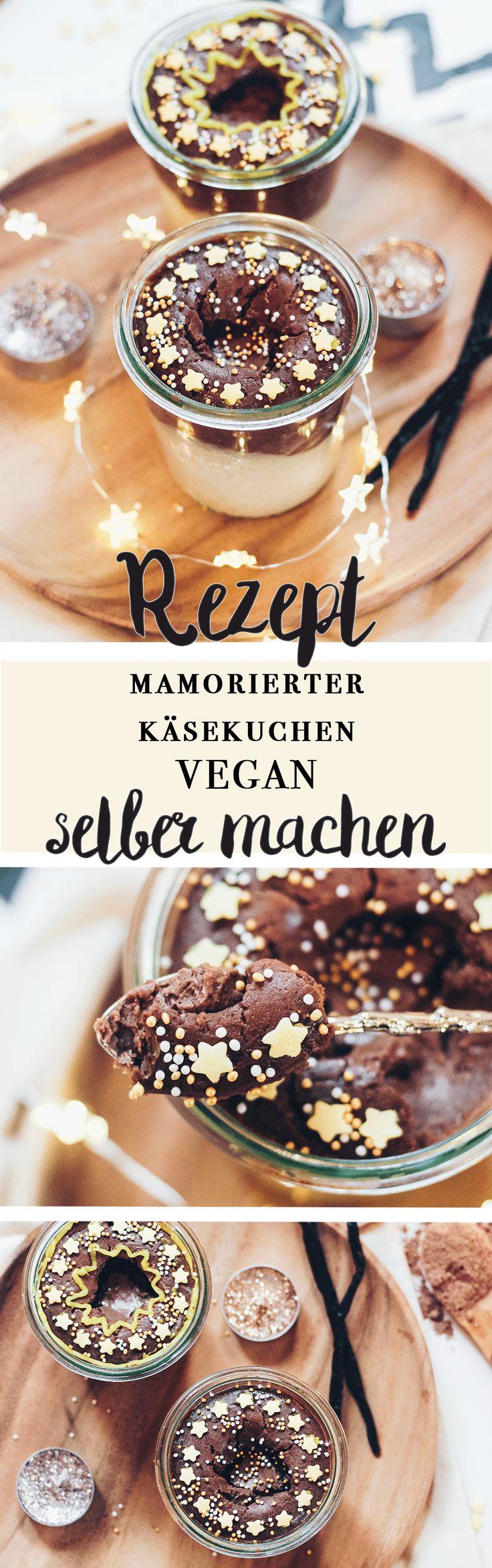 Marmorierter Käsekuchen im Glas // veganes Dessert Rezept auf VANILLAHOLICA.com . Marmorierter Käsekuchen im Glas // veganes Dessert Rezept Eines meiner Lieblingsrezepte meiner Oma war immer Käsekuchen. Daher hab ich das Rezept adaptiert und vegan gemacht. Das Rezept für einen einfachen, veganen Käsekuchen im Glas ist nun auf VANILLAHOLICA.com online. Ohne zugesetzten weißen Zucker, optional glutenfrei ist dieser vegane Käsekuchen zum selber machen geeignet.