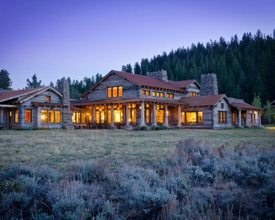 Village style ranch house interior design ideas wonderful for Montana ranch house