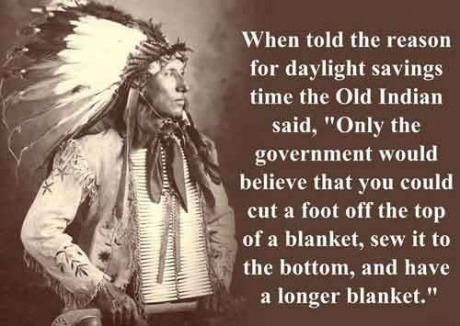 In honor of Daylight Saving Time.