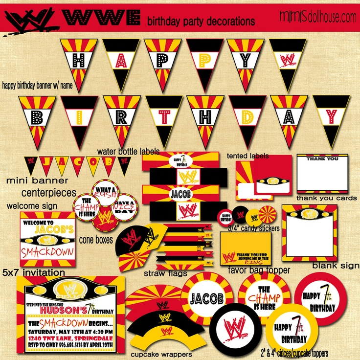1000 ideas about wrestling party on pinterest wwe party wrestling birthday cakes and wwe. Black Bedroom Furniture Sets. Home Design Ideas
