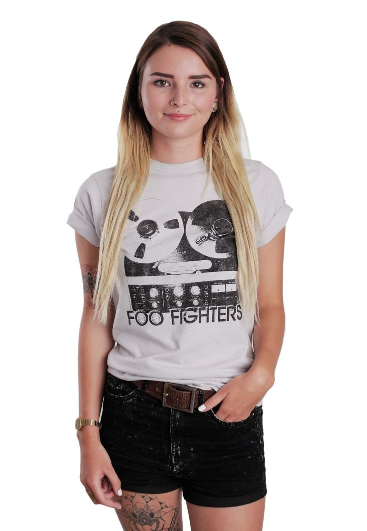 Foo Fighters - Reel To Reel Ice Grey - T-Shirt - Girls - Official Rock Merchandise Online Shop - Impericon Nederland