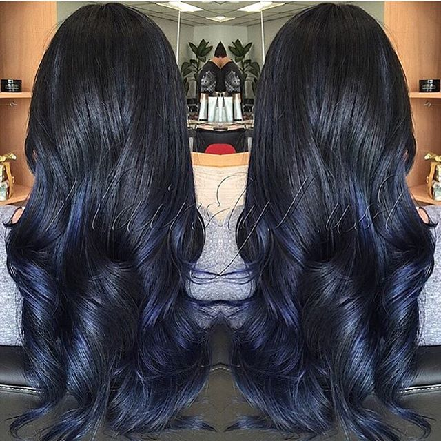 We  this blue diamond beauty created by @hairstylust (love her page!). Get YOUR work on our page by using #modernsalon Base: ISO iColor 2BB Ends: Joico Intensity Blue Sapphire, Cobalt Blue, Indigo and Titanium