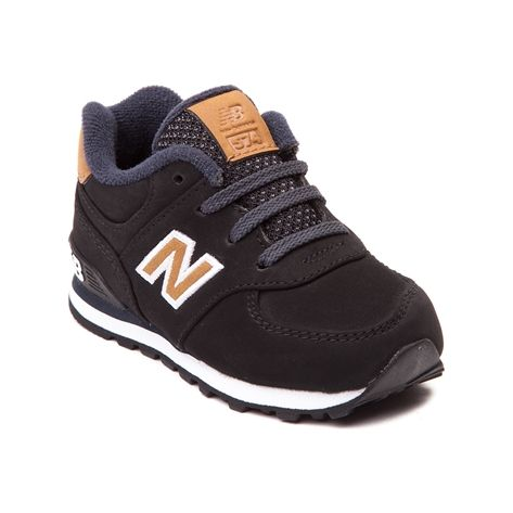 Modern New Balance style that's just like big brother's! This sized down 574 Athletic Shoe, from the Lux Collection, sports modern colorways with durable nubuck uppers and signature contrast logo.