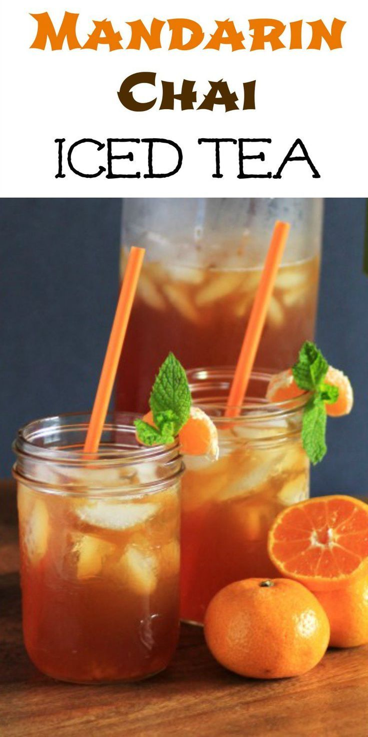 The sun is shining bright today and what better way to celebrate the sun than with a gorgeous iced tea, a Mandarin Chai Iced Tea with Truvia!!