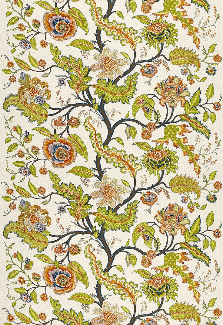 Love this Schumacher Tree of Life Linen Fabric.  It was derived from an Antique French indienne printed cotton fabric.