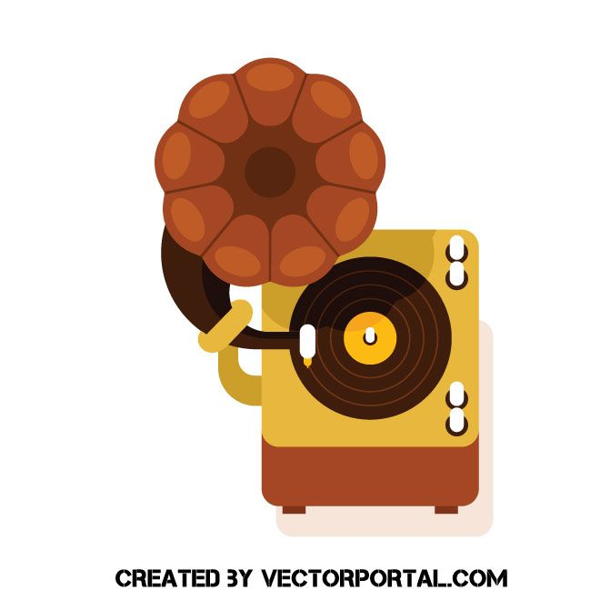 gramophone icon vector free vector images free vector images pinterest