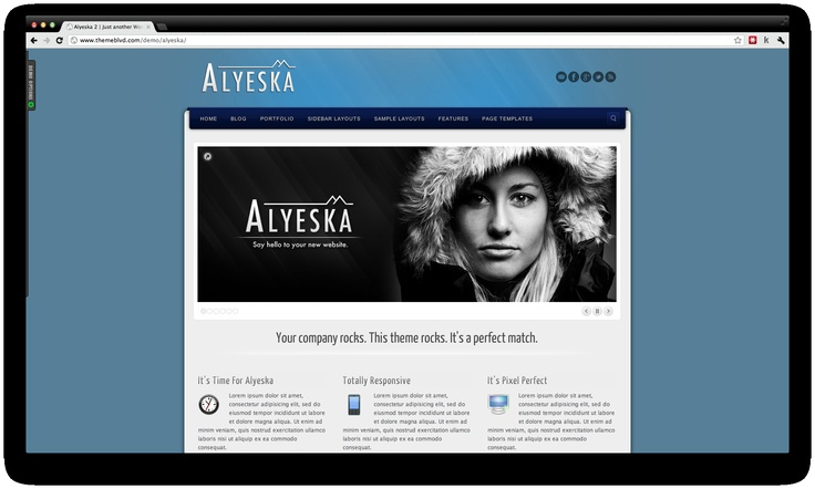 Alyeska is a responsive Premium Wordpress Theme for Small Businesses, suitable to showcase your products on different devices.